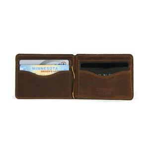J.W.HULMEアメリカ製マネークリップレザーウォレット二つ折り財布MONEYCLIPCARDWALLET