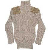 ハリスツイード/Harris Tweed タートルネック セーター NATO軍タイプ タートルネックコマンドセーター[MADE IN BRITAIN]ミリタリーセーター