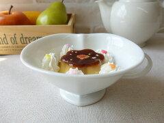 ティーカッププリンカップ代用わけあり白磁ハート型12cmデザートカップかわいいオーブン可レンジ可食洗器対応大きいアウトレットインスタ映え