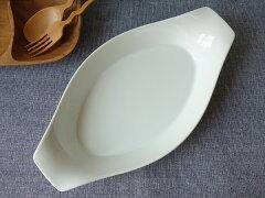 グラタン皿大きめ大型大きい特大訳あり32cm超楕円グラタン皿オーバルアウトレットオーブン対応レンジ可食洗器対応日本製3人用大皿キッシュ