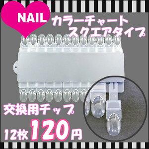 カラーチャート スクエアタイプ 交換用チップ 12枚 ☆メール便OK☆