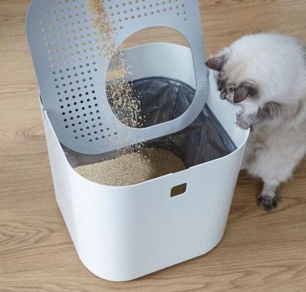 猫用トイレ 猫トイレ 上から おしゃれ インテリア  【Modkat Litter Box モデキャット リターボックス】【ポイント 倍~10倍】天井から出入りするタイプのシンプルでモダンなデザインの猫用トイレ!ペット用品 mate