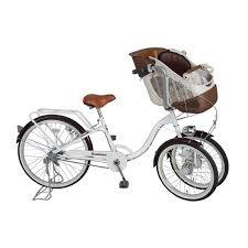 三輪自転車 前二輪 送料無料 2人乗り 【Bambina バンビーナ フロントチャイルドシート付 三輪自転車】【送料無料】【ポイント 倍】3輪だから、子供が二人乗っても安心感のある自転車! mimu