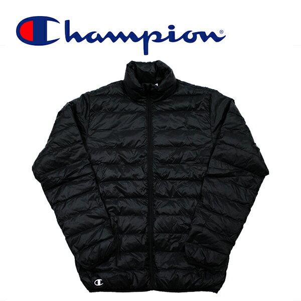 チャンピオンダウンジャケットライトダウンジャケットChampionJKT(ブラック/軽量/ブルゾン/)