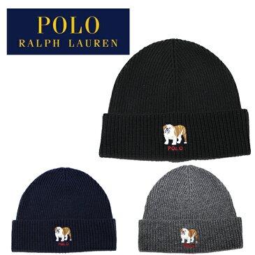 ポロ ラルフローレン ニット帽 ニットキャップ ビーニー Polo Ralph Lauren BULLDOG CUFF HAT (ブラック/ネイビー/グレー/キャップ/帽子/スキー/スノーボード/メンズ/レディース/メール便)