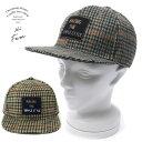 キャップ 帽子 ミックス千鳥ワッペンBB キャップ サイズ調節可能/CA-4626924-NLVC-002