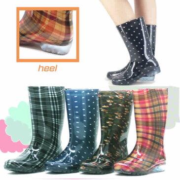 婦人用長靴/PVC素材の完全防水レインブーツ・長靴/ロング丈なので足元を雨からしっかりガードしてくれます/雨の日に/傘/水/ゲリラ豪雨/台風に大活躍/3155269-LB8120