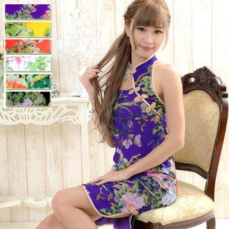 旗袍服裝舞蹈假扮性感服裝高等妓女和服日式服裝花功率網路小旗袍5148355-1007