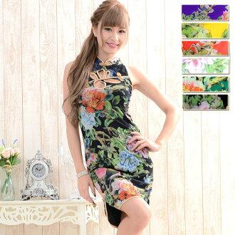 迷你旗袍腿吸引了動力旗袍 Yosakoi 服裝舞蹈服裝性感的衣服花魁和服和服 5154498-1008