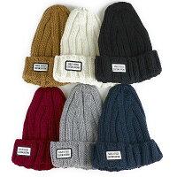 レディース帽子ニット帽トップシェープニットワッチ無地メール便発送可能ca-5036843-va13-002