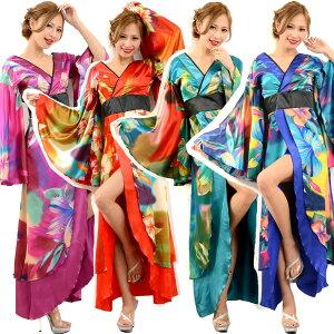 Envío gratis Kimono Vestido largo Patrón japonés Kimono largo Gradiente De lujo Popular Oiran Kimono Serie Kimono Vestido Yosakoi Traje Danza Mascarada Traje sexy Traje Oiran Kimono Traje japonés 5768930-1046