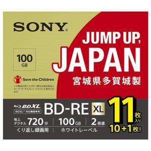 SONY ソニー 11BNE3VNPS2 BD-RE ビデオ用ブルーレイディスク くり返し録画用 100GB 2倍速 11枚入