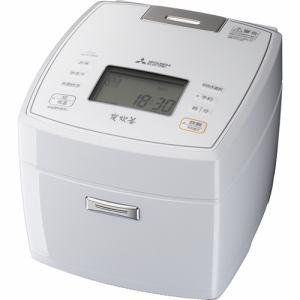 【納期約4週間】MITSUBISHI 三菱電機 NJ-VVB18-W IHジャー炊飯器 1升炊き 備長炭 炭炊釜(5層厚釜) ハードコート80 七重全面加熱 月白 NJVVB18