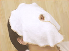 蒸しパック用タオル地フェイスマスク(タオル/マスク/フェイスマスク/蒸しタオル/ぷかぷか)