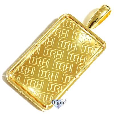 純金 24金 インゴット 流通品 徳力本店 30g k24 脱着可能リバーシブル枠付き ペンダント トップ 金色 送料無料 画像1