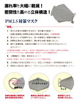 PM2.5対応マスクN95規格3枚組レビューでゆうパケット花粉症黄砂火山灰ほこり排気ガススモッグ新型インフルエンザウイルスブロック隙間対策ノーズガードゴム長さ調節