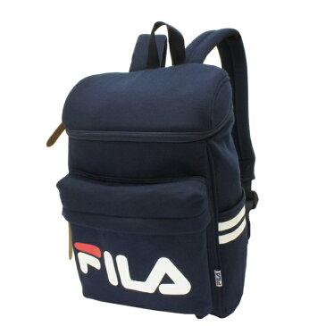 FILABOXジップスウェットDパック ネイビー FILA フィラ リュック デイパック スクエア型 ボックス型 軽量 通学 通勤 男女兼用 レディース メンズ A4対応
