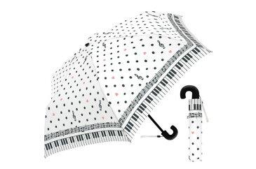 50cm子供折 ポルカドットミュージック WH 折りたたみ傘 子供 女の子 キッズ レディース 傘 かわいい オシャレ 水玉 かわいい おしゃれ