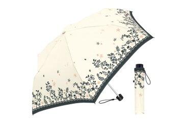 55cm耐風折 シャドウガーデン WH 折りたたみ傘 レディース 風に強い 傘 丈夫 かわいい 耐風 台風 花柄