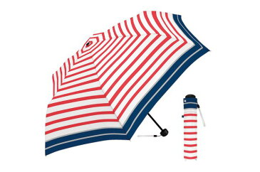 50cm折傘 スポーティボーダー RD 折りたたみ傘 レディース コンパクト 軽量 おしゃれ 傘 50cm