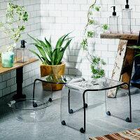 【送料無料】バスチェアーと風呂桶Sセット透明感の高いアクリル板を使用した品のあるフランクタイムシリーズfranktime透明アクリルの風呂椅子フランクタイム