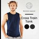 男 ヨガ メンズ ヨガウェア★日本正規品[Manduka] MEN'S クロス トレイン タンク(男性用 タンクトップ)★17FW Cross Train Tank ヨガウエア トップス ノースリーブ フィットネス クルーネック マンドゥカ《#724301》|70801|「OS」:《K》