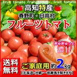 送料無料・高知産フルーツトマト2kgご家庭用