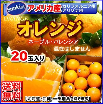 【送料無料】アメリカ産ネーブルオレンジ バレンシアアレンジ20個入り 05P03Sep16