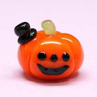 ガラス細工オシャレかぼちゃハロウィンHALLOWEENおばけお化けゴーストかぼちゃカボチャ南瓜ミニチュアインテリアディスプレイオブジェキャンドル手作り材料キットおしゃれかわいい置物雑貨小物glass