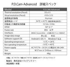 赤外線サーマルカメラPDCam-Advancedサーモグラフィー長時間モニタリング用接続方法