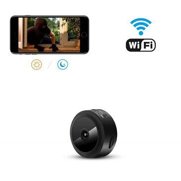 小型カメラ aobo wifi 1080P高画質長時間録画 カメラ 150°広角小型カメラ ip 動体検知 携帯型防犯監視カメラ ミニワイヤレスカメラ バッテリー内蔵 sdカード録画 iPhone/Android/PC対応(日本語取扱)
