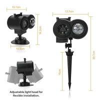 (リモコン式)投影ランプイルミネーションライトステージライト多色変換自動消灯IP65防水プロジェクターライト16投影フィルム付