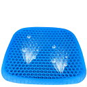 SUPTEMPO 最新型 ゲルクッション 大きめサイズ 無重力クッション 二重構造 卵割れないクッション 座布団 安定感 通気性抜群 体圧分散 腰痛 坐骨神経痛 対策 カバー2枚付き 自宅椅子 オフィス 車運転用 四季通用
