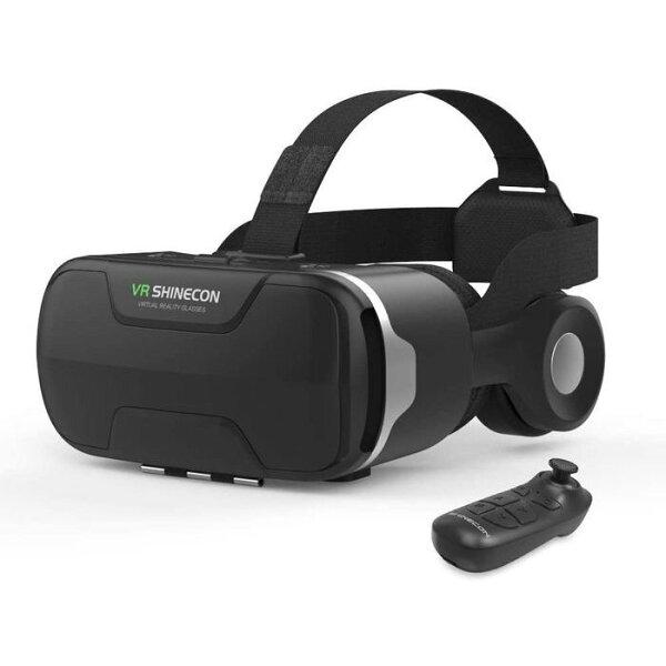 最新改良版VRゴーグル VRヘッドセットVRヘッドマウントディスプレイ3D瞳孔/焦点調節非球面光学レンズ眼鏡対応1080PHD