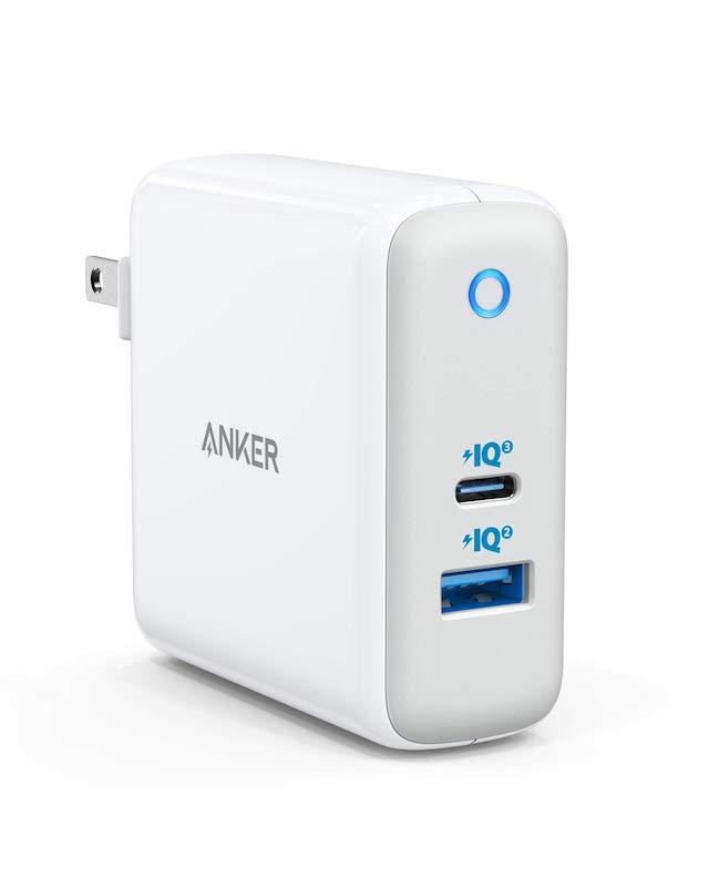 バッテリー・充電器, AC式充電器 Anker PowerPort Atom III (Two Ports) (PD 60W 2USB-A USB-C )GaN () PSE Power Delivery