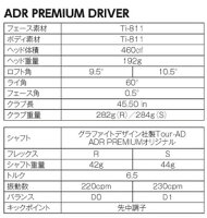 アキラADRプレミアムドライバーグラファイトデザイン社製ADR-Premiumオリジナルシャフト[AKIRAPREMIUM]【■Tak■】