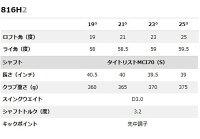【即納!】タイトリスト816H2ユーティリティータイトリストMCI70シャフト[日本仕様][Titleist]