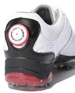 【即納!】ルコックゴルフ ゴルフシューズ メンズ QQ0595 ホワイト×ホワイト(XN30)ヒールダイヤル式WLS【あす楽対応】