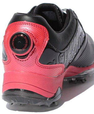 【即納!】ルコックゴルフ ゴルフシューズ メンズ QQ0597 ブラック(N100)ヒールダイヤル式WLS【あす楽対応】