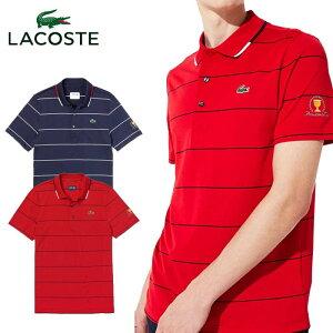 \★先着クーポン配布中★/ラコステ LACOSTE PRESIDENTS CUP ピンボーダーポロ DH0428L 半袖 ポロシャツ メンズ
