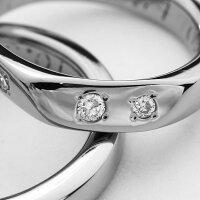 ☆キラキラ感が魅力☆天然ダイヤ合計01ctセッティング-セミオーダーチタンリング・ペアM048(結婚指輪・マリッジリング・ペアリング)
