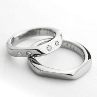 ☆キラキラ感が魅力☆天然ダイヤ合計0.1ctセッティング-セミオーダーチタン・ペアリングM048刻印無料結婚指輪マリッジリングメンズレディース肌が弱い天然ダイヤモンド大きいサイズ02P03Dec16