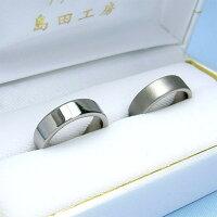 定番平打リングセミオーダーチタンリング・ペアM006(結婚指輪・マリッジリング・ペアリング)ミラー仕上げ