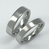 定番平打リングセミオーダーチタンリング・ペアM006(結婚指輪・マリッジリング・ペアリング)箱