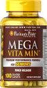ビタミン サプリ ビタミン サプリメント ビタミン 亜鉛 サプリ 健康食品 健康 生活ピューリタンズプライド(Puritan's Pride) メガビタミン--シニア用100錠 MEGA-VITAMIN SENIORS100CoatedCaplets健康 サプリメント 健康 ビタミン サプリメント 健康サプリ