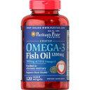 ピューリタンズプライド Puritan's Pride オメガ3 魚油(フィッシュオイル)1200 mg. コーティングタイプ その1