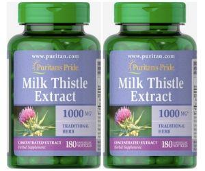 Puritan's Pride(ピューリタンズプライド) Milk Thistle Extract 1000mg 180粒×2個