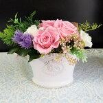 ピンクのバラのりぼん