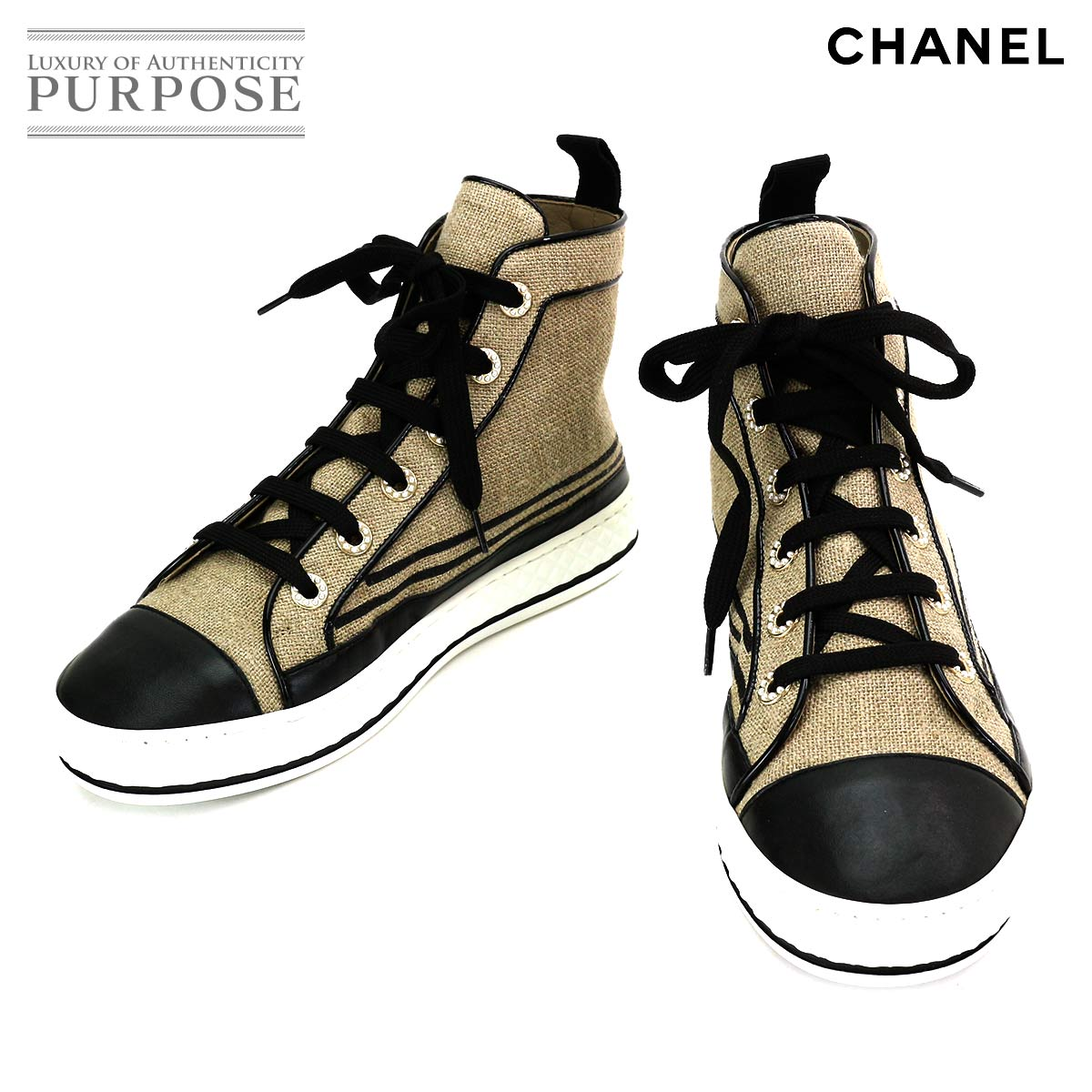CHANEL sneakers womens CHANEL 36 22.5 23.0 G3422...