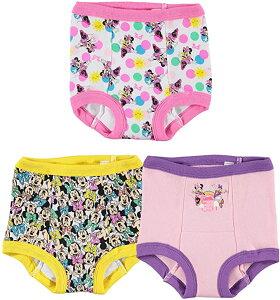 ディズニー ミニーマウス 女の子 トイレトレーニング ショーツ パンツ 3枚セット 2歳 3歳 4歳   並行輸入品